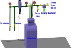 Схема очистки воды из колодца