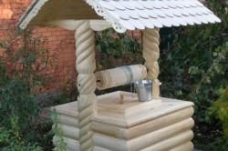 Декор для скважины из дерева