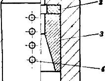 Схема элементов канатного замка