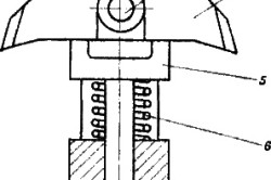 Схема элементов расширителя для скважины