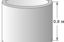 Схема бетонного кольца