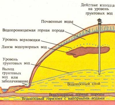 Схема размещения грунтовых