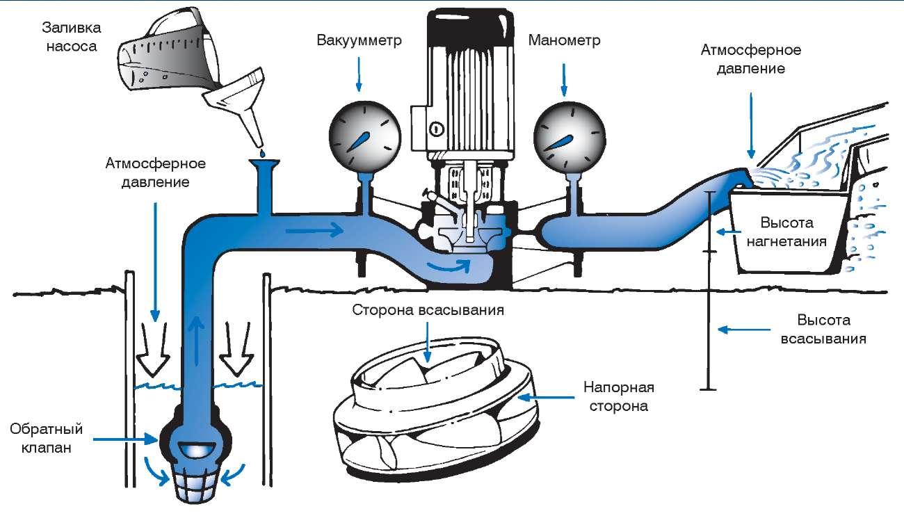 виды насосов по принципу действия и конструкции схема