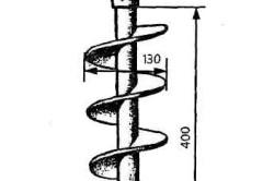 Шнековое бурение скважин станками типа со 2