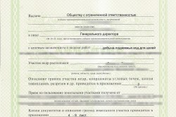 Образец лицензии для артезианской скважины